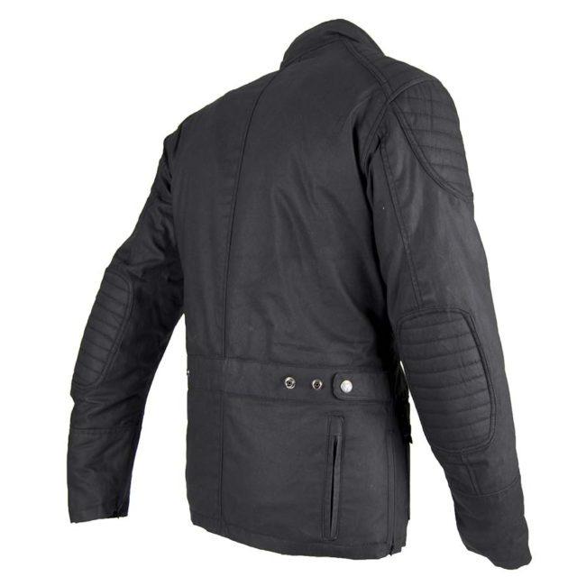 Chaqueta moto invierno cafe racer hombre london espalda negra espalda