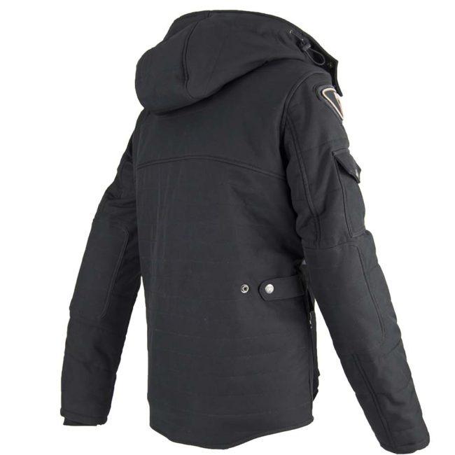Chaqueta moto invierno cafe-racer-hombre urban iii man espalda negro