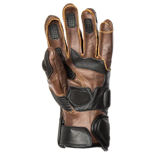 guantes-cafe-racer-moto-verano-rider-marrón-negro